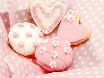 Koekjes en cupcakes Stock Fotografie