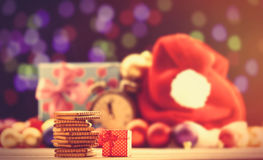Koekjes en giftdoos Royalty-vrije Stock Foto's
