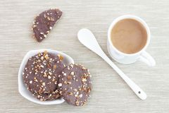 Koekjes en Koffie Royalty-vrije Stock Fotografie