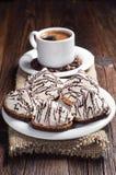 Koekjes en koffie Stock Foto's