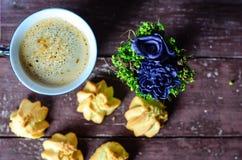 Koekjes en koffie Royalty-vrije Stock Foto's