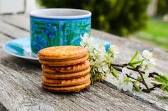 Koekjes en koffie stock foto