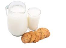 Koekjes en Melk II Stock Foto