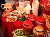 Koekjes en snacks stock afbeelding