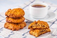 koekjes, koffie, oranje marmelade Royalty-vrije Stock Foto