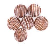 Koekjes met cacao Stock Afbeeldingen