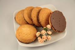 Koekjes met chocolade Stock Fotografie
