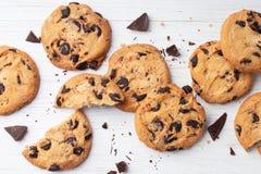 Koekjes met Chocoladeschilfers Stock Foto