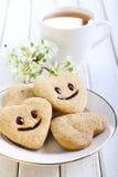 Koekjes met glimlach royalty-vrije stock afbeelding