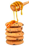 Koekjes met honing Royalty-vrije Stock Afbeelding