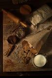 Koekjes met kaneel 10 Stock Foto's