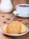 Koekjes met koffie Stock Foto's