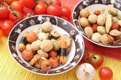 Koekjes van rijst stock afbeelding