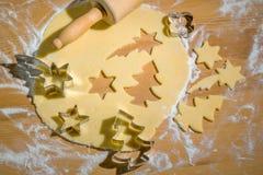 Koekjes voor Kerstmis stock afbeeldingen