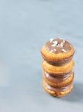 Koekjeskoekjes in de vorm van een toren in chocolade Stock Foto