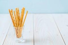 koekjesstokken op hout Stock Foto