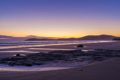 Koekohe beach at sunrise, Otago, New Zealand Royalty Free Stock Photo