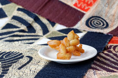 Koeksisters, traditional South African fried cookies on a plate Stock Images