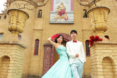 Koel Aziatisch paar Royalty-vrije Stock Fotografie
