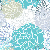 Koel bloemen naadloos het patroon vectorontwerp van kleurenbotan Royalty-vrije Stock Foto