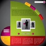Koel blog malplaatje met rotateable ontwerp Royalty-vrije Stock Foto's
