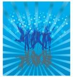 Koel dans op blauw Stock Afbeeldingen