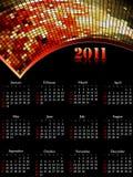 Koel de kalender van 2011, gemakkelijk uit te geven. Stock Afbeeldingen
