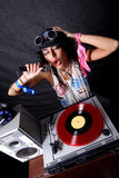 Koel DJ in actie royalty-vrije stock foto's
