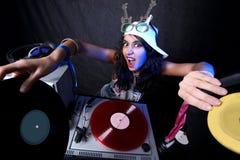 Koel DJ in actie stock fotografie