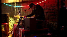 Koel DJ in bar stock video