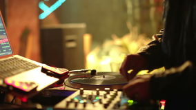 Koel DJ in bar stock footage