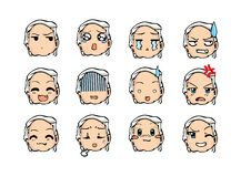 Koel emoticon stijl Stock Foto