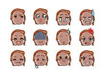 Koel emoticon stijl Stock Foto's