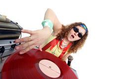 Koel geïsoleerdd DJ Stock Foto