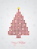 Koel gestippelde Kerstmiskaart Royalty-vrije Stock Afbeelding