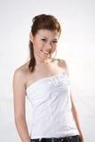 Koel glimlachend oosters meisje Stock Fotografie
