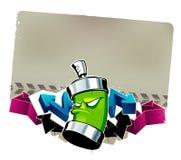 Koel graffitibeeld Stock Foto