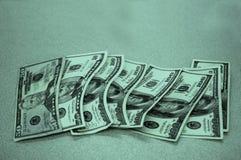 Koel Groen Contant geld Stock Afbeelding