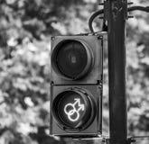 Koel groene signalen in Trafalgar Square in Londen - LONDEN - GROOT-BRITTANNIË - SEPTEMBER 19, 2016 Stock Afbeeldingen