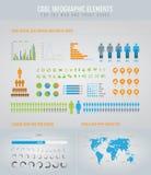 Koel infographic elementen Royalty-vrije Stock Afbeeldingen