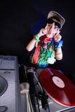 Koel jong geitje DJ Royalty-vrije Stock Foto's