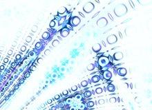 Koel Langzaam verdwenen Blauw Retro Patroon stock illustratie