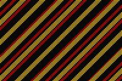 Koel lineair patroon in zwarte rood en geel Stock Foto