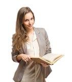 Koel modieus jong studentenmeisje. Stock Afbeeldingen