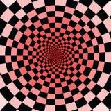Koel om op het te letten Zwarte en rode vierkanten vector illustratie