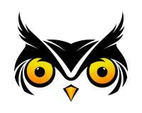 Koel Owl Symbol Royalty-vrije Stock Foto's