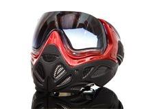 Koel paintball masker op weerspiegelende oppervlakte Royalty-vrije Stock Foto