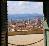 Koel Panorama van Florence in Italië royalty-vrije stock afbeelding