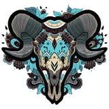 Koel Ram Skull vector illustratie