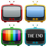 Koel Retro Televisietoestel Stock Foto